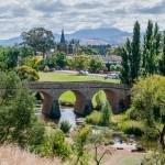 ältese Brücke und Kirche Australiens